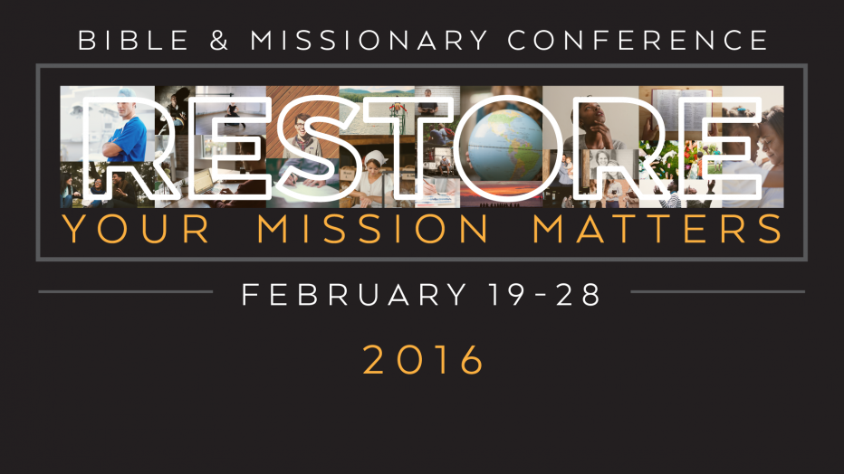 Restore: Your Mission Matters